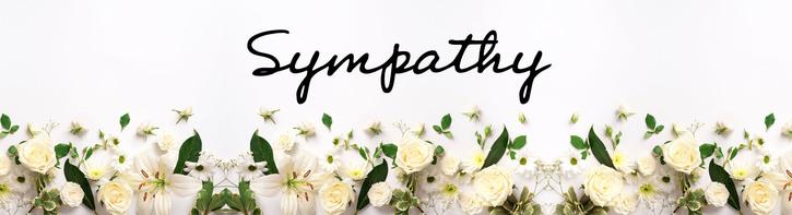 Blue & White Sympathy Flowers
