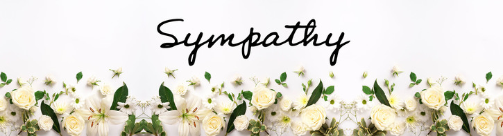 Lavender & White Sympathy Flowers