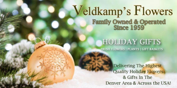 Holiday Flowers & Gifts, Christmas Centerpieces, Holiday Arrangements.  Veldkamp's Flowers offers same day delivery of beautiful holiday flowers & gifts.
