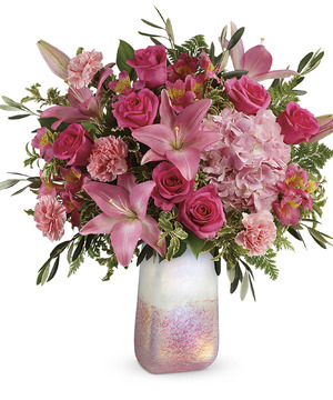 Romantic Pink Rose & Lily Bouquet