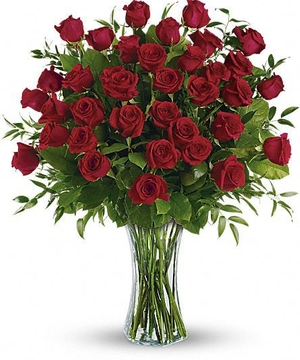 Three Dozen Long Stem Red Roses