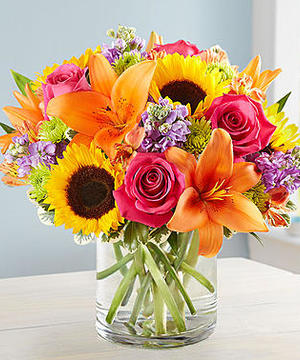 Roses, Sunflowers, Lilies
