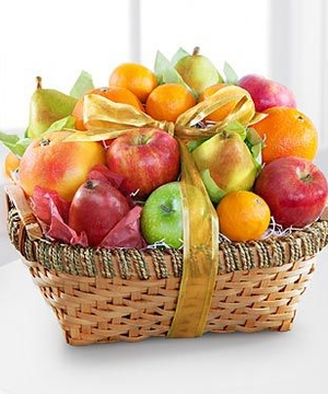 Gift Basket Filled With Delicious Seasonal Fruit
