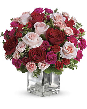 Red & PInk Rose Medley.