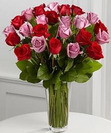 Red & Lavender Rose Bouquet