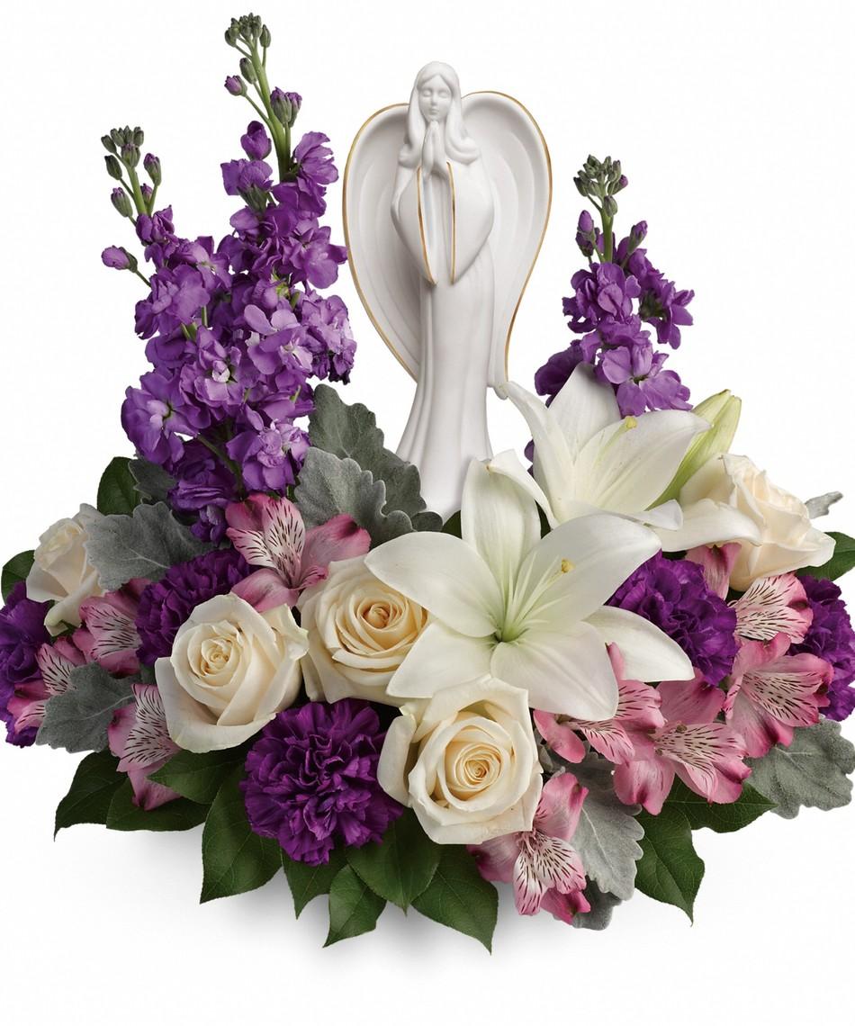 Beautiful Heart Bouquet Lavender Funeral Flowers Denver Florist