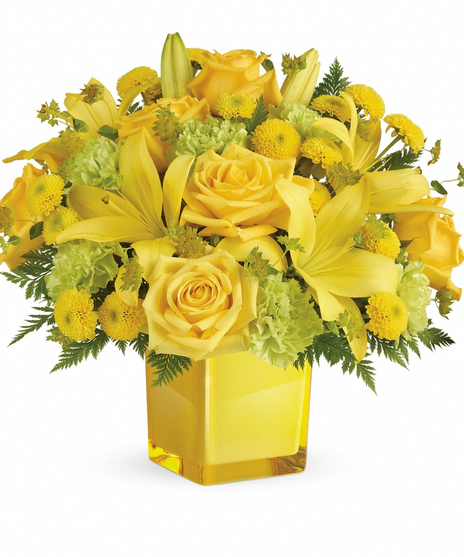 Sunny Mood Bouquet Yellow Roses Denver Veldkamps Flowers